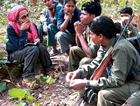 Susanna Arundhati Roy with Maoists