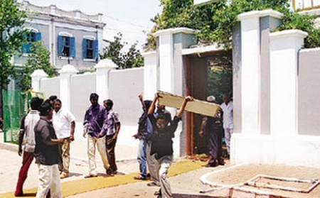 Aurobindu Ashram attacked by Dravidian group3