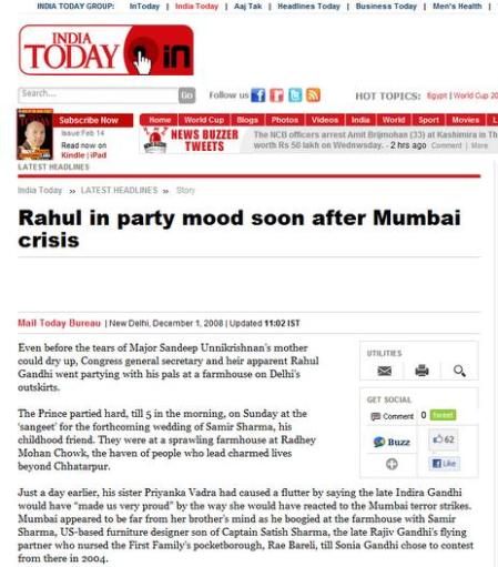 Rahul in party mood during Mumbai attack2