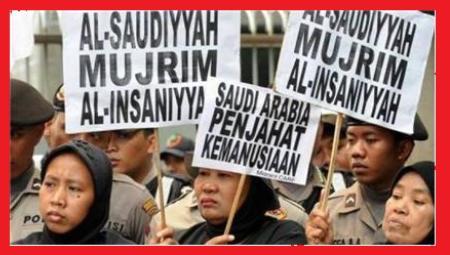 Saudi women protesting