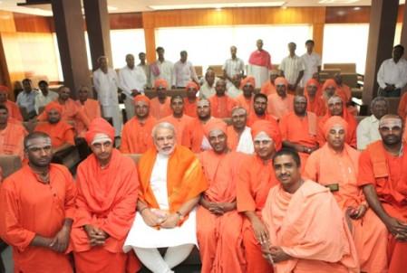 Siddhaganga mutt meets Modi2