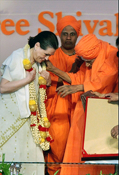 Sonia attending Lingayat conference April.3