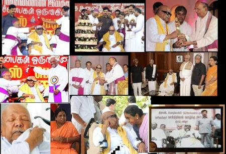 Karunanidhi with Christians