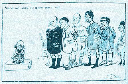 Gandhi caricature - non-violence