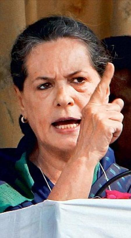 Sonia angry