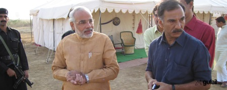 Modi, Sharma at Kutch Ustav