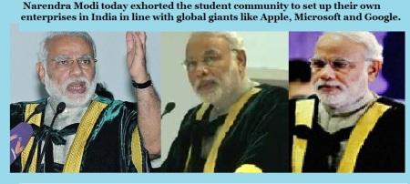 Narendra Modi at SRM convocation 2014 urging to create google, ms etc in India