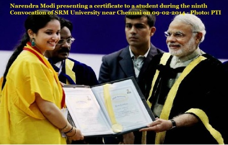 Narendra Modi at SRM convocation 2014