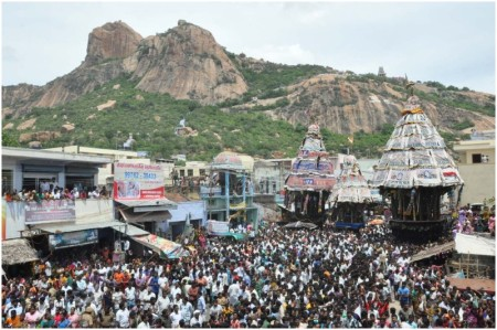 Tiruchengode Ratha festival - depicted differently
