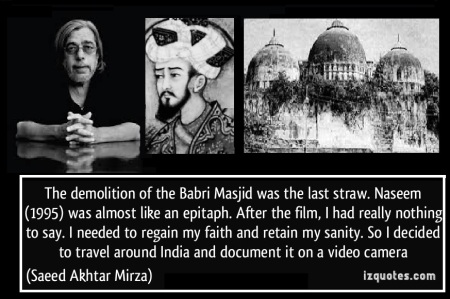Saeed aktar mirza, babar and masjid