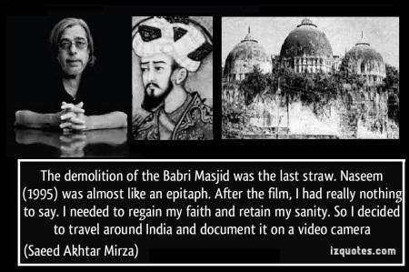 Saeed aktar mirza, babar and masjid