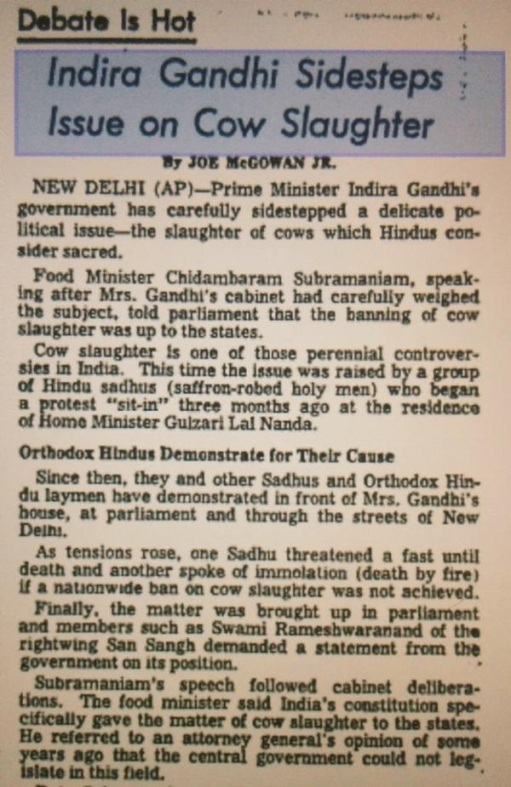 1966 anti-cow slaughter rally Delhi.6