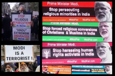 Anti-Modi demonstration -UK