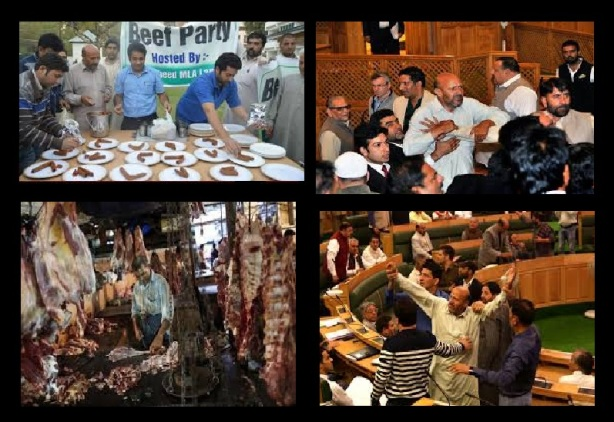 Beef eating party politics - Jammu-kashmir