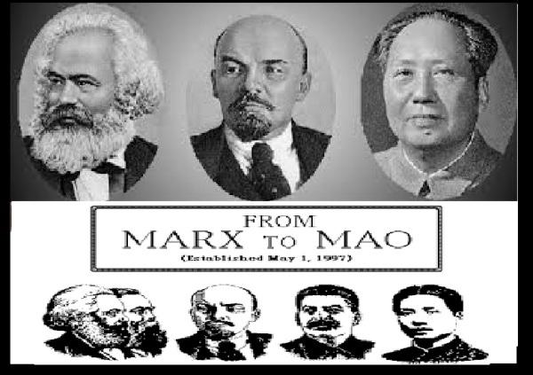 Marx, Lenin, Mao- trinity of Communism