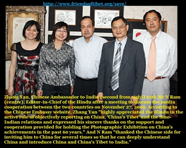N Ram accused of leaning towards China by Tibet - 2009