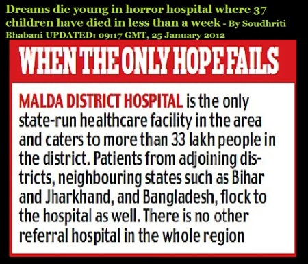 Dreams die young in horror hospital where 37 children have died in less than a week- 25-01-2012