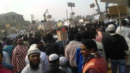 Tiwari protest turned riot
