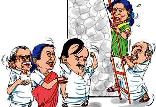 தினமலர் - பிஜேபி கோஷ்டி பூசல் - படம்