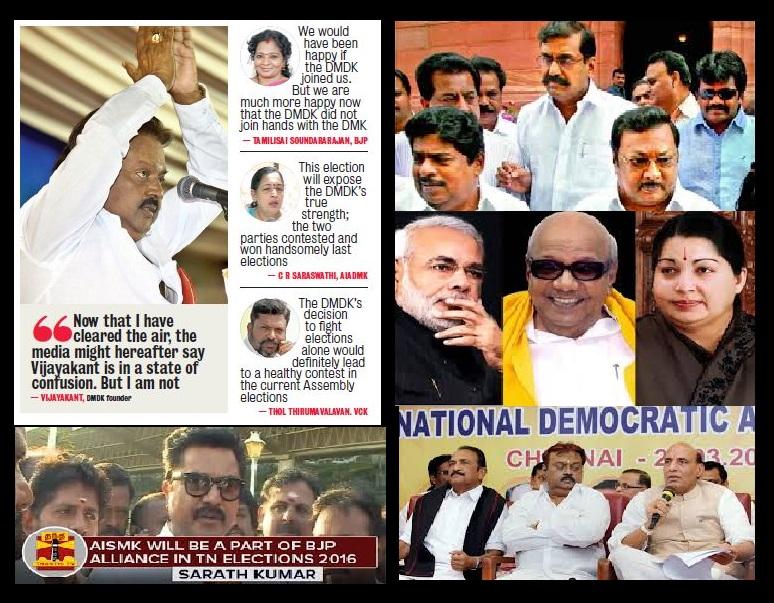 TN 2016 BJP failed in alliance