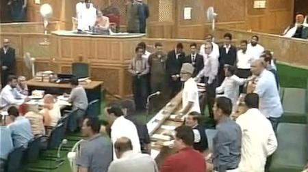 J and K assembly debate about sainik colony