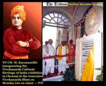 M. Karunanidhi inaugurating -Vivekananda Cultural Heritage of India exhibition at the renovated Vivekananda Illam 20-12-1999 .PTI