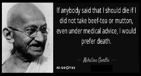 Anti-Gandhi pro-beef campaign-gandhi against beef