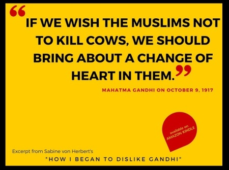 Anti-Gandhi pro-beef campaign