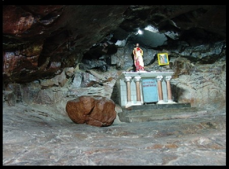 Chinna malai forgeries- encroached temple and destroyed