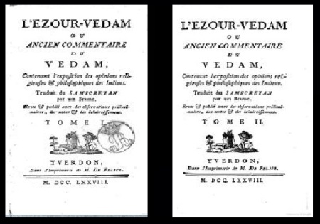 ezoure-Vedam published in French-vol.I and II