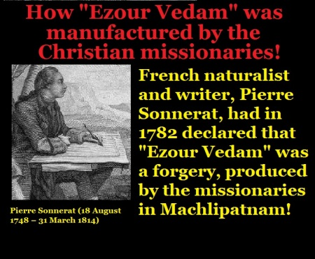 How Ezour Vedam was manufactured by the Christian missionaries
