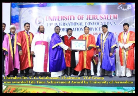 V. G. Santhosm awarded - life time achievement