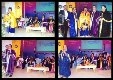 V. G. Sathosam awarded Doctorate etc