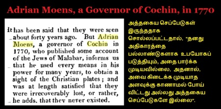 Adrian Moens, a Governor of Cochin, in 1770