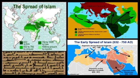 Early spread of Islam 632-750 CE-1500 by trade