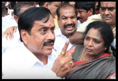 Angry Raja, looking Tamilisai