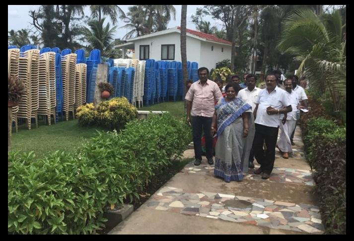 VGP resort - Tamilisai inspected